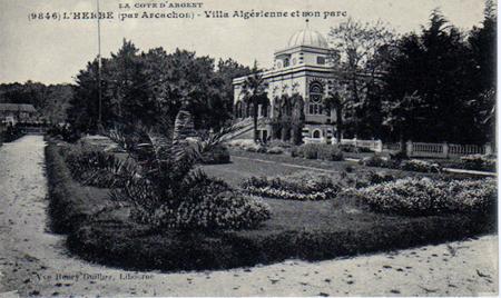 villa algérienne carte postale ancienne L'Herbe vignette